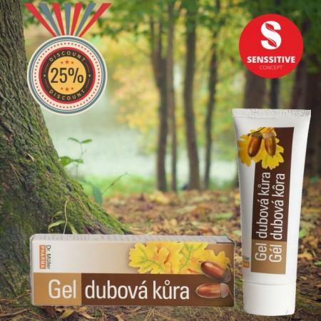 Gel cu Scoarta de stejar 75 ml (Hemoroizi si fisuri anale)