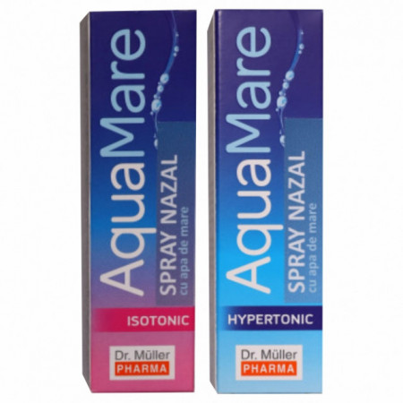 Pachet spray nazal cu apa de mare izotonic + hypertonic Aquamare