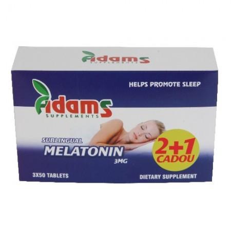 Melatonina Sublinguala 3mg 50 tablete 2+1 CADOU