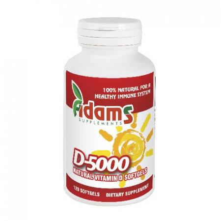 Vitamina D-5000 softgel 120cps. Adams Supplements