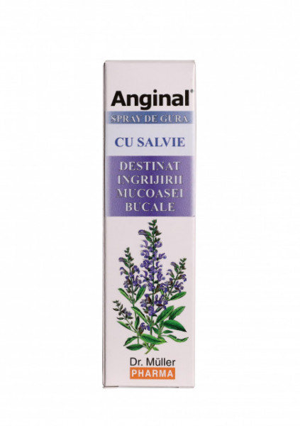 Anginal – Spray de gura cu Salvie Dr. Muller Pharma 30 ml