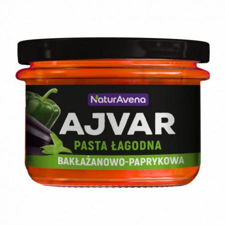 Pasta de legume cu ardei gras si vanata 185g 100 % natural