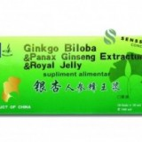 Ginkgo Biloba & Panax Ginseng Extractum & Royal Jelly 10 fiole x 10 ml