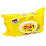 Dalin Servetele umede soft & clean 120 buc