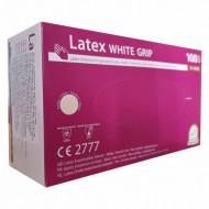 Manusi de examinare din latex marimea XL 100buc albe