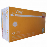 Manusi de examinare din vinyl marimea XL 100buc transparente