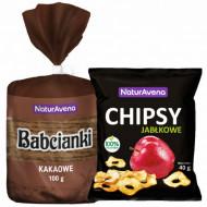 Pachet Napolitane cu aroma de cacao 100g + Chipsuri de mere 40g