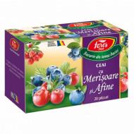 Ceai cu merișoare și afine, 20 doze Fares