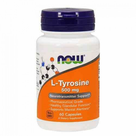 Now - L-tyrosine (L-tirozina) 500mg - 60 caps