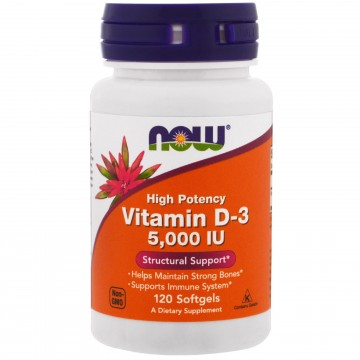 Now Vitamin D3 5,000IU 120caps