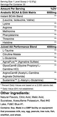 Universal Animal Juiced Aminos 370g
