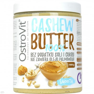 OstroVit Cashew Butter Smooth 100% 1kg (EXP: 10.2021)