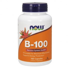Now Foods B-100 complex de vitamine B, 100 Veg Caps