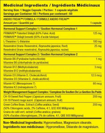 Pharmafreak Andro Freak af 60caps (Exp. 11.2020)