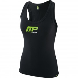 MusclePharm Womens Printed Vest Sleeveless T Shirt Gym Cotton Training
