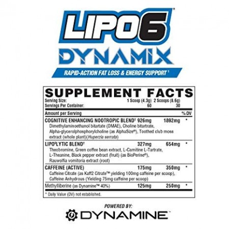 Nutrex-Lipo6 Dynamix 60serv