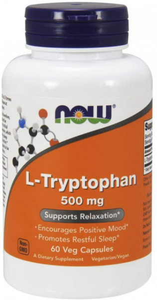 Now - L-tryptophan (L-triptofan) 500mg - 60 caps