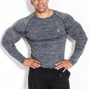 Kevin Levrone T-SHIRT LONG SLEEVE 01 LM COMPRESSION DARK FREY