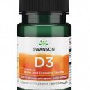 Swanson - D3 1000iu (25mcg) - 60 capsule