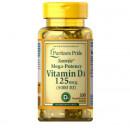 Puritan's Pride - Vitamin D3 (5000IU - 125mcg) - 100 caps