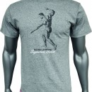 Kevin Levrone Signature Series Double V-Neck T-Shirt – Model 01 – Grey