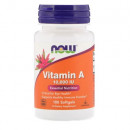 Now - Vitamina A 10.000IU - 100 capsule