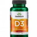 Swanson - Vitamina D3 2000IU - 250 capsule