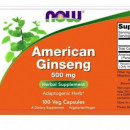 Now - Ginseng American 500mg - 100 caps