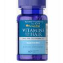 Puritan's Pride - Vitamine pentru par - 60 tablete
