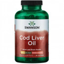 Swanson - Cod liver oil (ulei din ficat de cod) 700mg - 30 capsule