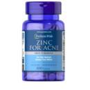 Puritan's Pride - Zinc pentru acnee - 100 tablete