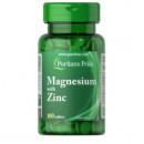 Puritan's Pride - Magneziu cu zinc - 100 tablete