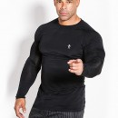 Kevin Levrone T-SHIRT LONG SLEEVE 01 LM COMPRESSION BLACK