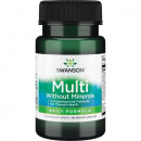 Swanson Multi Without Minerals 30 capsule (Exp. 12.2021)