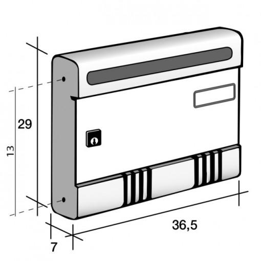 Cutie poștală din aluminiu anodizat sau vopsit seria ESSE SIRE format de revista