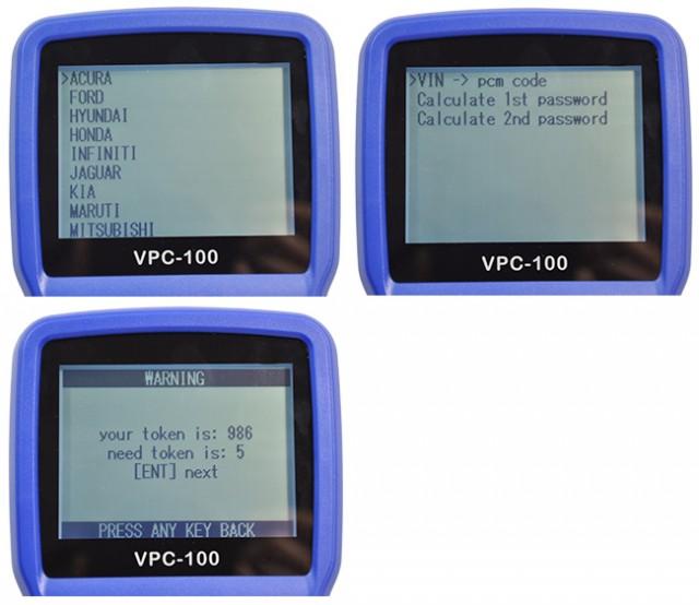 Calculator Immo Pin Code VPC-100 - toate marcile de masini