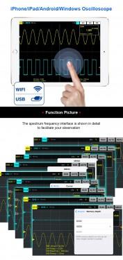Osciloscop Digital Hantek iDSO1070A iPhone/iPad/Android/Windows Oscilloscope WIFI