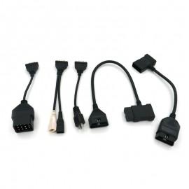 Set mufe adaptoare Original Launch X431 New iDiag cutie galbena