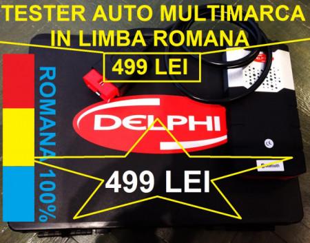 Poze Tester auto DELFI2 DS150E VCII Limba Romana, detine Bluetooth 4.0 model 2020 - GARANTIE 12 Luni !