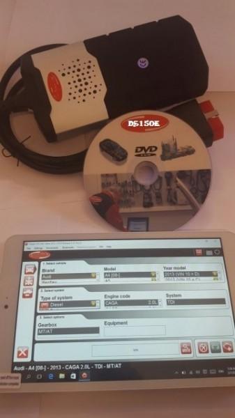 Kit DELFI 2 WOW V.2018 + TABLETA + Autodata, Tester Multimarca Turisme & Camioane in Limba Romana, Aparat Profesional Service