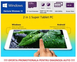 Poze Tableta Dual Boot Windows 10 + Android 4.4, Intel, Quad Core, 8 inch, IPS Screen, 2GB/32GB, Bluetooth, HDMI