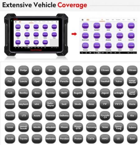 VIP Top 2020 Autel Maxicom Mk908p cu J2534 ECU - Tester Auto Profesional Universal Diagnoza, Programare, Codare (Update MS908P)