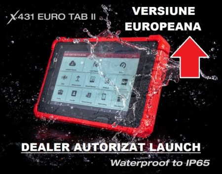 Launch X431 Eurotab II - Tester Original Launch, Versiunea Europa