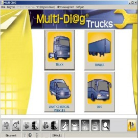 WAS Multi-Diag tester auto profesional pentru camioane cu bluetooth