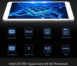 Tableta Dual Boot Windows 10 + Android 4.4, Intel, Quad Core, 8 inch, IPS Screen, 2GB/32GB, Bluetooth, HDMI