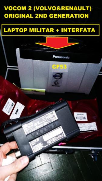 Tester auto camioane VOLVO si RENAULT VOCOM II 88894000 V2.7 2020 (Laptop inclus)