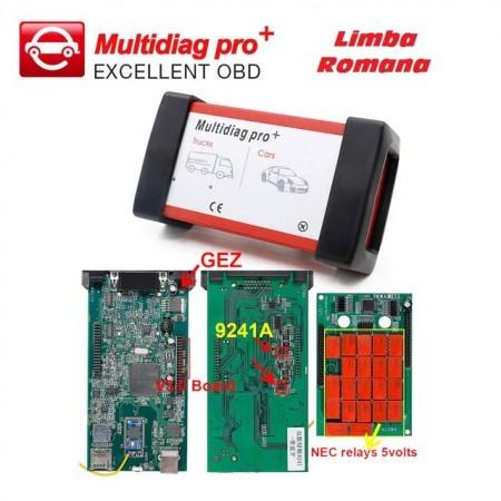 Tester Auto Turisme si Camioane Multidiag PRO+ 3in1 Bluetooth V3.0 NEC 9241 Chip