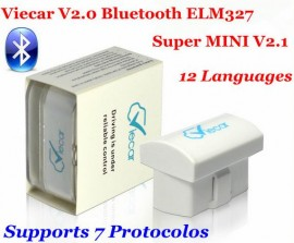 Elm327 2018 model Viecar 2.0 Bluetooth Ultima versiune V2.1 Suporta 7 Protocoale: Android/Symbian/PC OBDII CAN-BUS