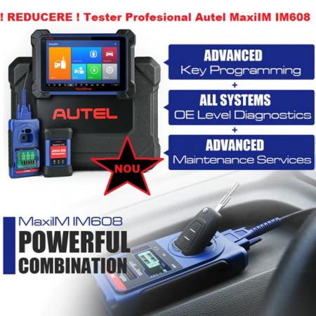 Tester auto Profesional Autel MaxiIM IM608 cu programator chei XP400 si reprogramator ECU J2534 ECU fara limita de IP