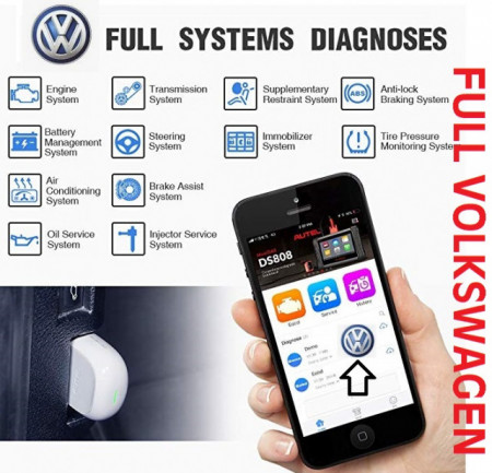 Poze Vw Bluetooth Interfata diagnoza auto prin OBD2 MaxiAP AP200 full software Volkswagen